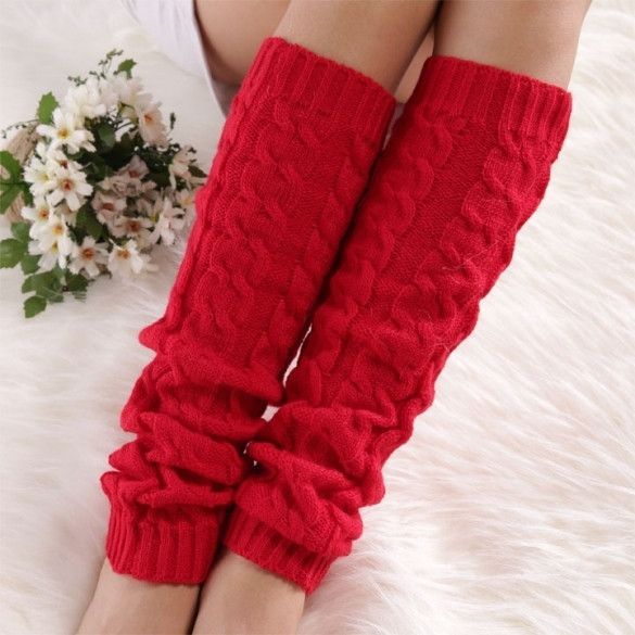 High Quality Low Price Knitted Leg Warmers For Women Fashion Gaiters Boot Cuffs Socks Women Warm Stockings
