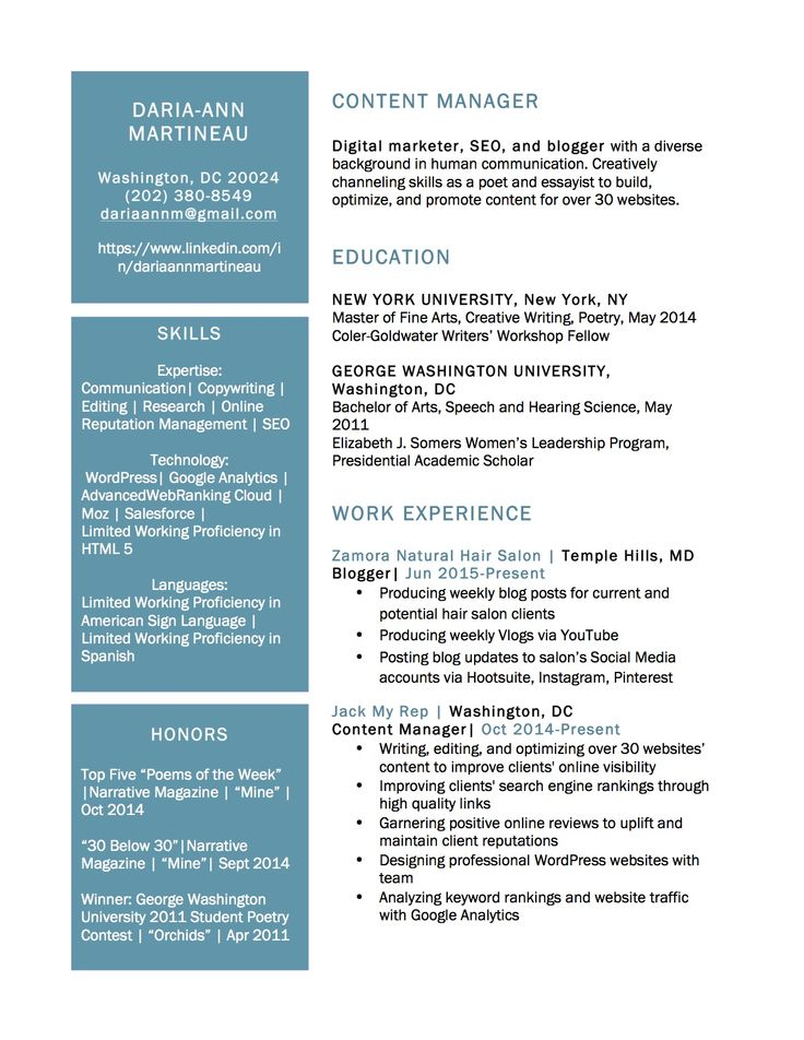 40 best Resume images on Pinterest Resume, Creative writing and - content manager resume