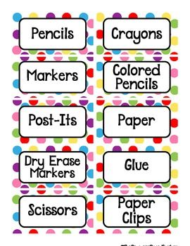 4th Grade Welcome Bulletin Boards polka dots | Colorful Polka Dots Classroom Labels - The Resource Room Teacher ...