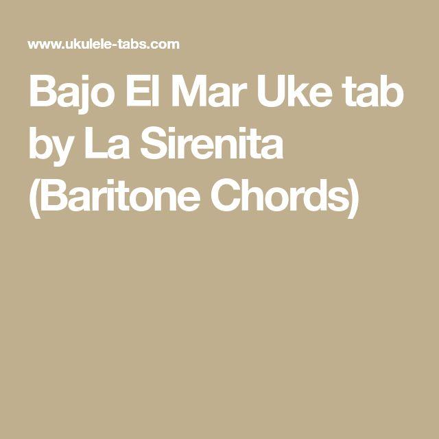 Bajo El Mar Uke tab by La Sirenita (Baritone Chords)