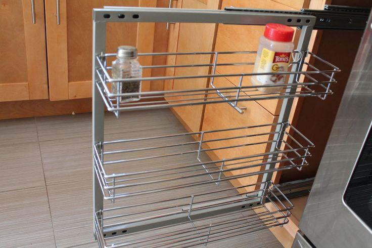Wide Kitchen Cabinet Spice Rack