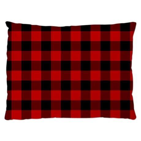 Red Plaid Dog Bed on CafePress.com