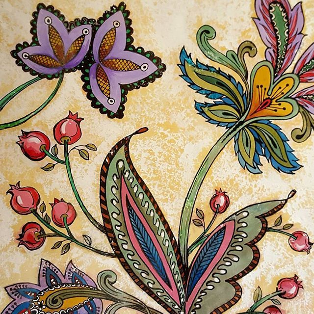 From Behind The Garden Gate Coloring Book By Prima Illustrated Sandi Pirrelli Watercolors Gouache Marketing Pages