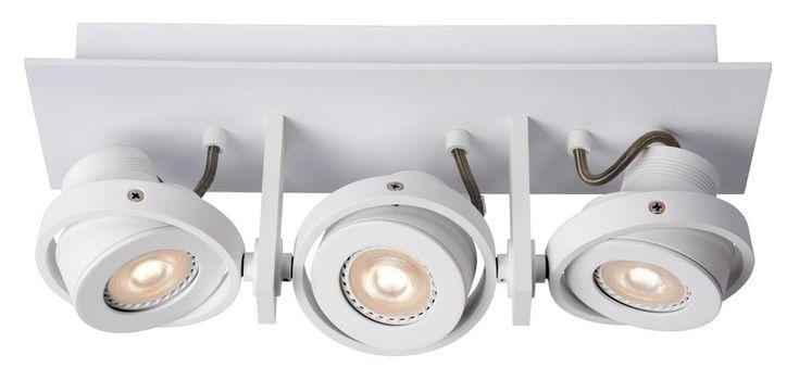 Opbouwspot Landa 3-lichts met dimbare LED lampen en wit gespoten aluminium armatuur. Een representatieve en industriële design spot die mooi is door zijn eenvoud en multifunctioneel door de vele toepassingen thuis en in bedrijven. De spots zijn individueel draaibaar en kantelbaar en voorzien van warm witte energiebesparende LED lichtbronnen. Deze eenvoudig te dimmen Samsung LED lichtbron heeft een lichtopbrengst van 320 Lumen per spot voor een perfecte lichtval. Spot is exclusief wand- of…