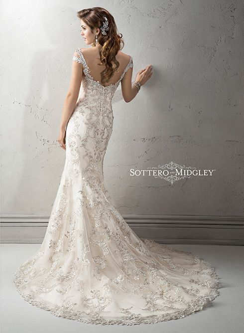 Ettiene Bridal Gown by Soterro & Midgley. I got mine at #PebblesBridal http://pebblesbridal.com