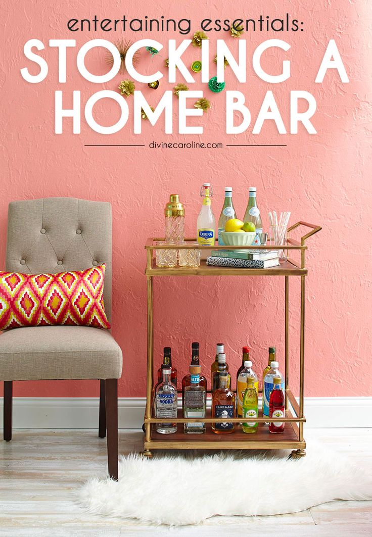 Long for a home bar but have no idea where to start? This essential guide will walk you through the basics of alcohols, glassware, and more to create the perfect environment for entertaining! #homebar #cocktails