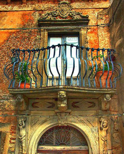 Montalbano Elicona balcony, Sicily - Italy by Giuliagas, via Flickr