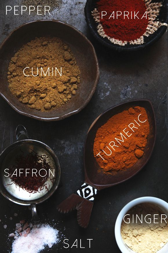 Spices With Benefits. Beautiful picture. Im just learning how to cook with spices and I love the natural beauty of them