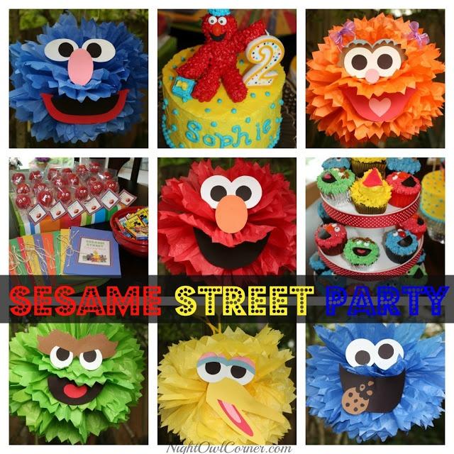 Sesame Street poms