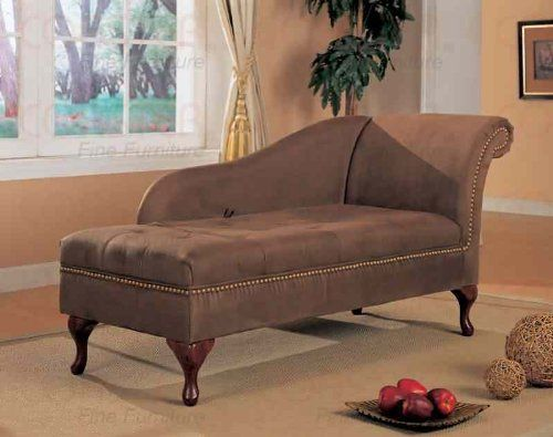 Coaster Home Furnishings Transitional Chaise, Cherry/Brown