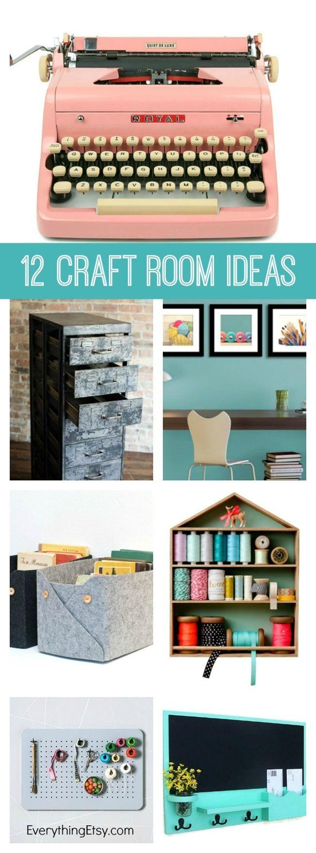 12 Craft Room Decorating Ideas On Etsy Everythingetsy