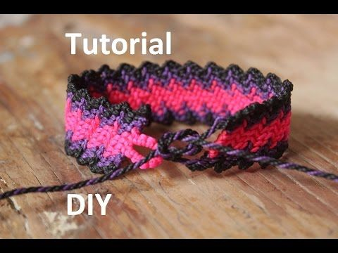 como hacer una pulsera macrame de huesito Es.PandaHall.com - YouTube