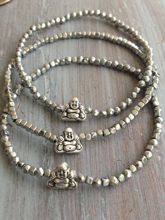 Buddha Bracelet Beaded Bracelet Boho Bracelet by indietiez on Etsy