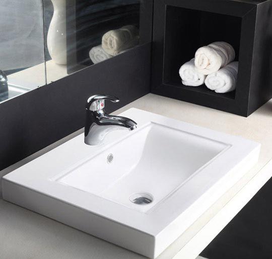 Buy Hindware Tessa Counter Top Self Rimming Basins-91056 in Washbasins through online at NirmanKart.com