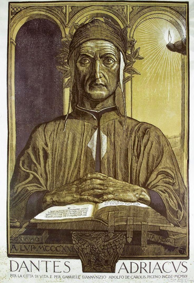 Le Prince Lointain: Adolfo de Carolis (1874-1928), Dantes Adriacus – 1...