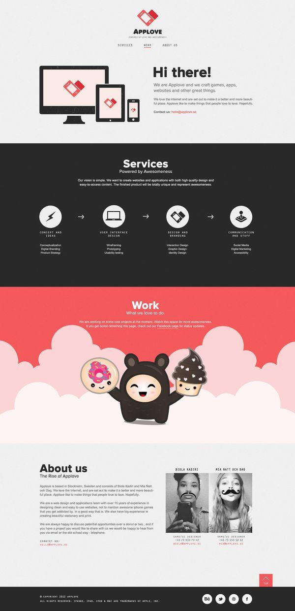 Webpage Applove by Applove , via Behance