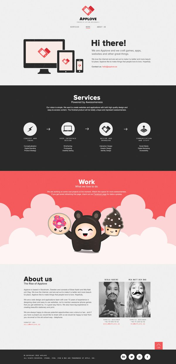 Webpage Applove by Applove , via Behance
