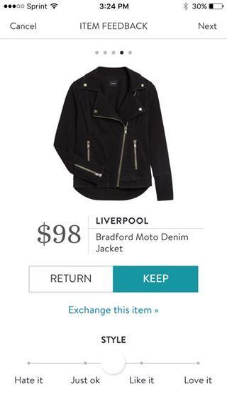Stitch FIx Liverpool Bradford Moto Denim Jacket