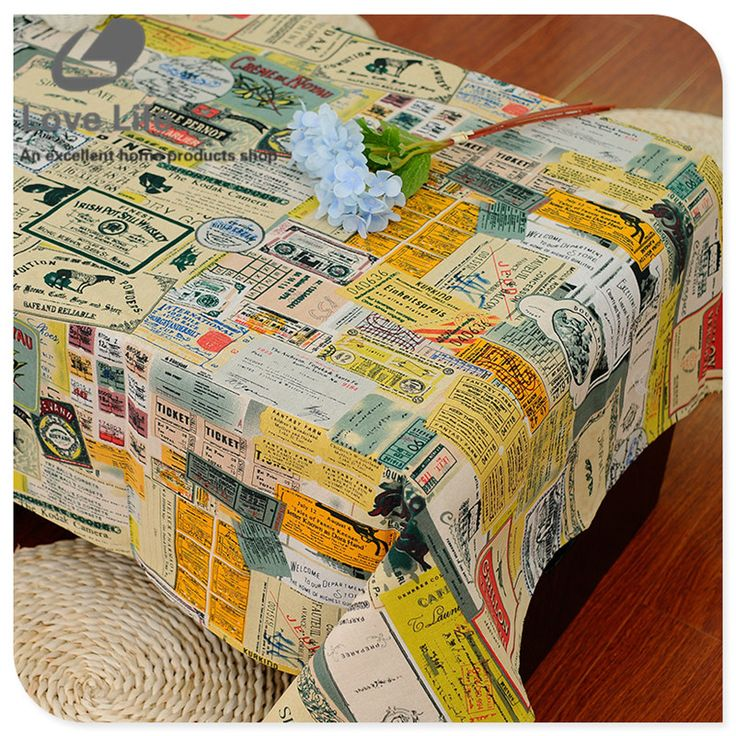 Literary Newspaper Print Table Cloth Rectangular Linen Tablecloths Home Decor Wedding Tablecloth Manteles Cheap