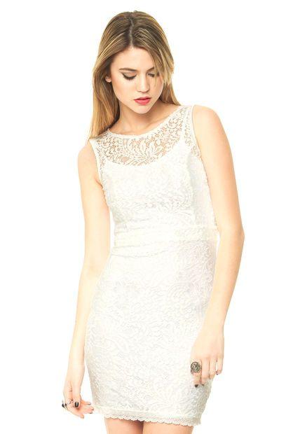 Me encanta! Miralo! Vestido Blanco Ona Saez Rosario  de Ona Saez en Dafiti