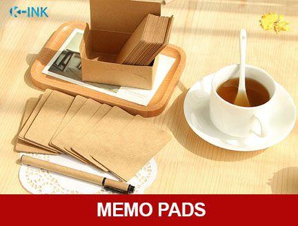 100pcs \/ set Kraft paper blank daily memo , writing memo pad set - blank memo