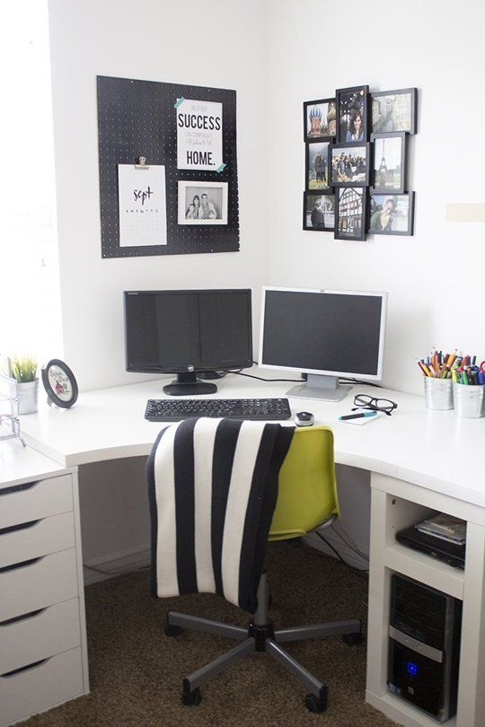 Before & After: A Budget Black & White Home Office