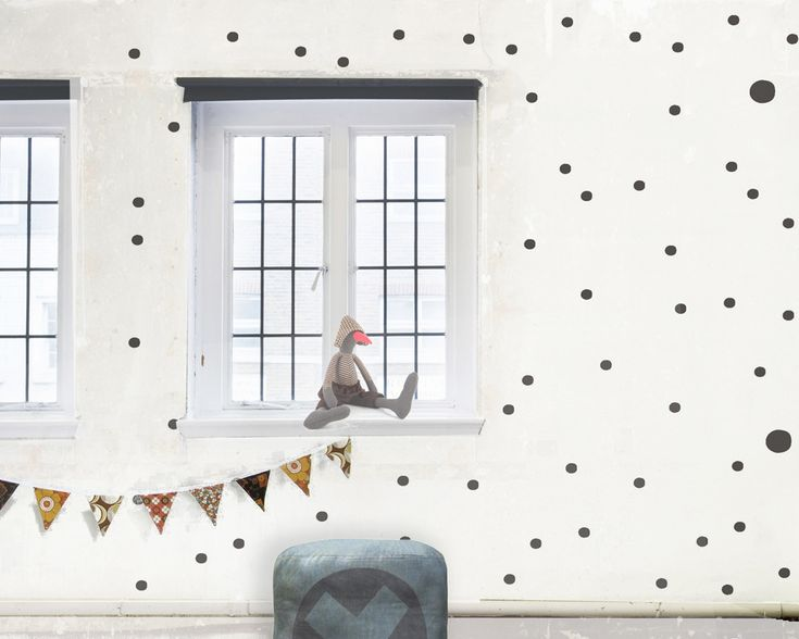 dots, wallpaper by Humpty Dumpty Room Decoration, HDRD, interior design by Fajnodesign.by