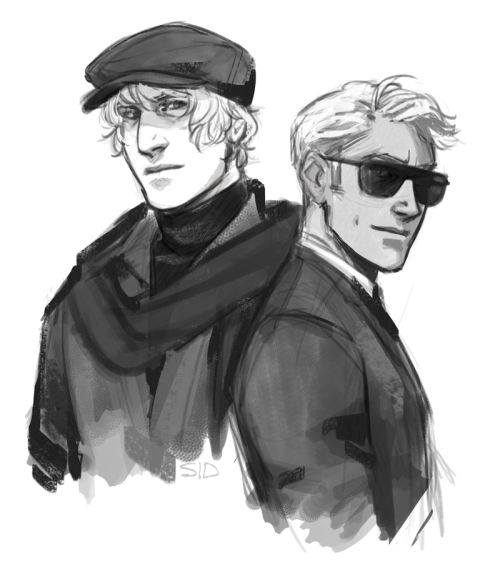 cidersketch@tumblr - APH America & Russia X Man from U.N.C.L.E