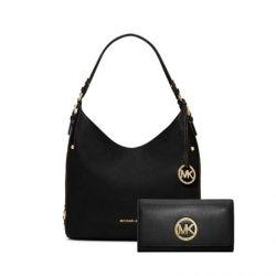 MICHAEL MICHAEL KORS Bedford Large Leather Shoulder Bag + Fulton Leather Carryall Wallet
