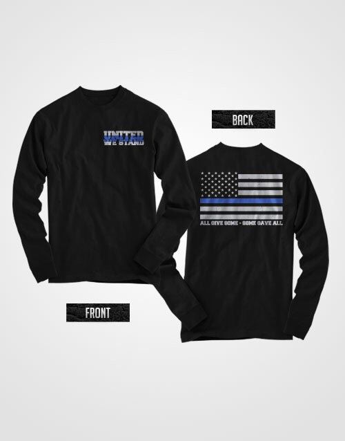 United we stand thin blue line long sleeve shirt SUPPORT POLICE by ThinBlueLineNY on Etsy https://www.etsy.com/listing/216866573/united-we-stand-thin-blue-line-long