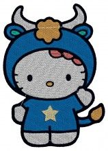 Aries Kitty - Machine Embroidery Designs