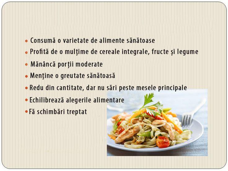 Sfaturile noastre pentru o alimentație sănătoasă: