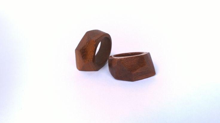 Anelli di legno frakè - Linea Pointy