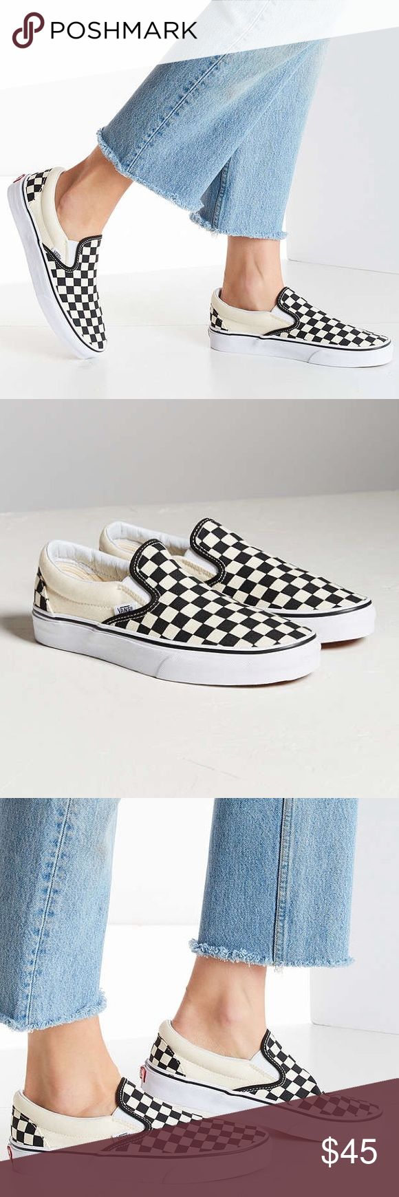 Vans Checkerboard Slip-ones! Vans Checkerboard Slip-on shoes! Women's size 8.5. Worn twice, perfect condition! Vans Shoes Sneakers