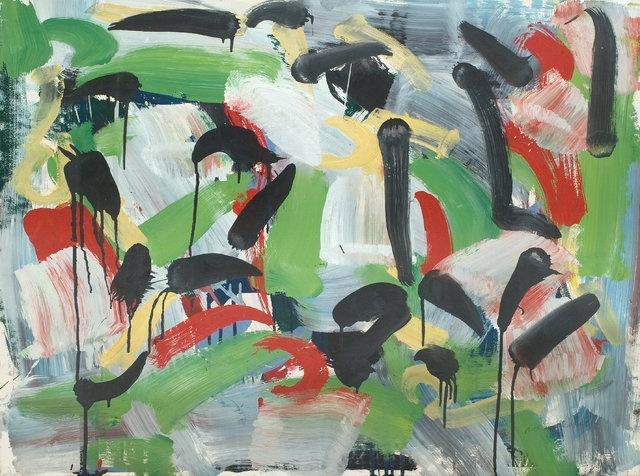 Jean-Paul Riopelle  Sans titre  1959  60 x 80 cm  Gouache marouflée sur toile  Alfa Galerie. Follow the biggest painting board on Pinterest www.pinterest.com/atelierbeauvoir