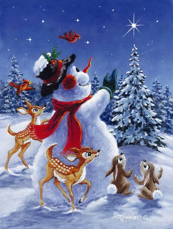 Я весёлый снеговик, Унывать я не привык...Зимние иллюстрации Ричарда Де Вульф (RichardDeWolfe).. Обсуждение на LiveInternet - Российский Сервис Онлайн-Дневников