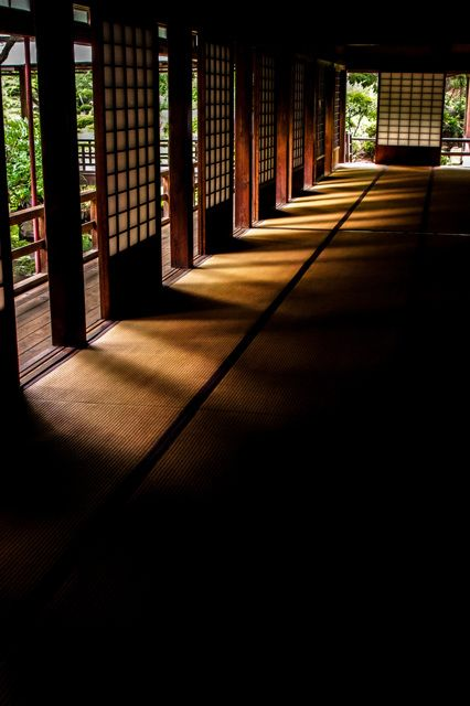 Corridor of Erin-ji temple, Yamanashi, Japan