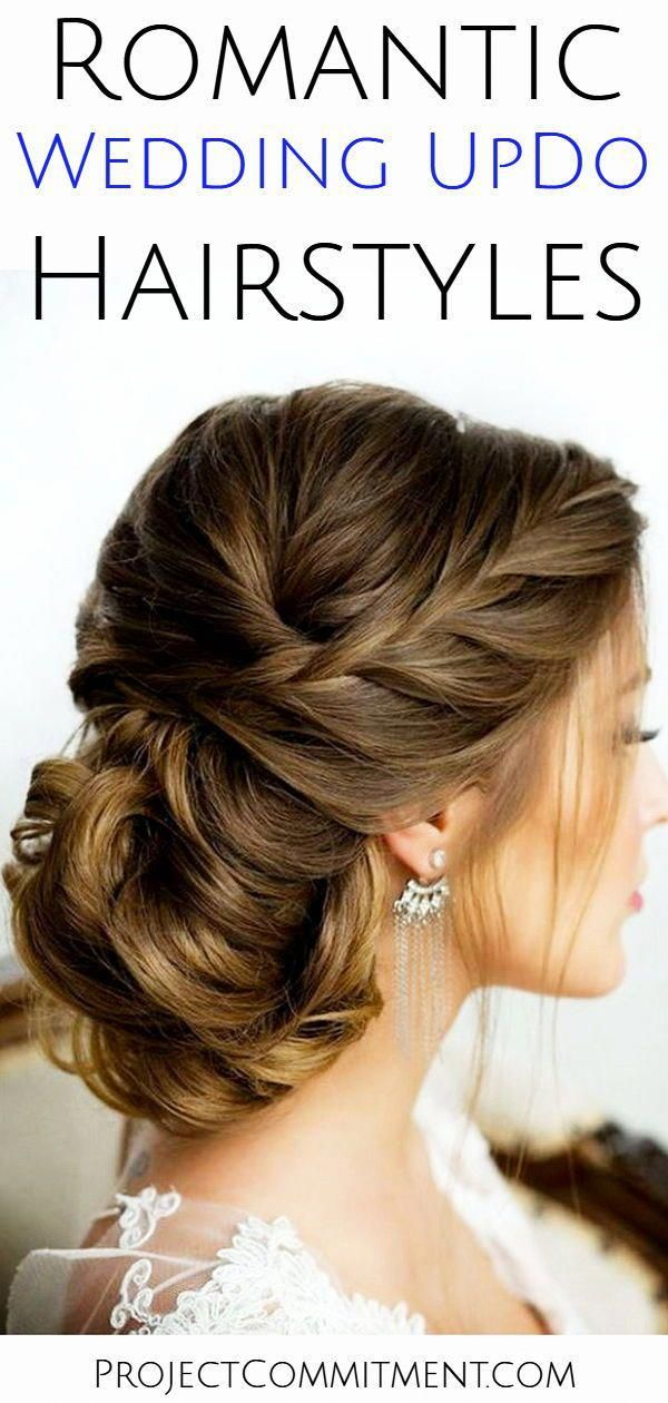 Romantic wedding updo hairstyle ideas for the bride or for bridesmaids - these simple vintage updo hairstyles are elegant bridal hair ideas whether yo...