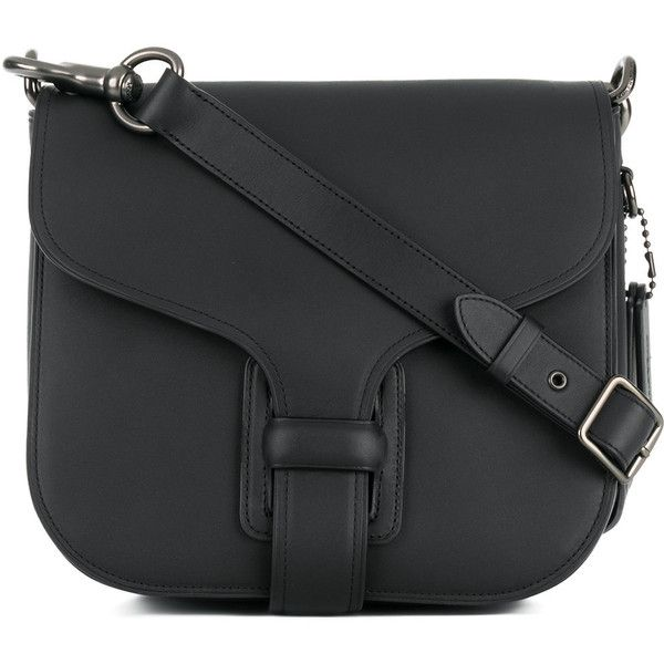 Coach Courier bag ($665) ❤ liked on Polyvore featuring bags, handbags, shoulder bags, black, coach handbags, equestrian purses, coach purses, coach messenger bag and shoulder messenger bag