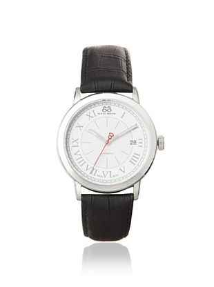 88 RUE DU RHONE Men's 87WA120033 Double 8 Origin Black/White Leather Watch