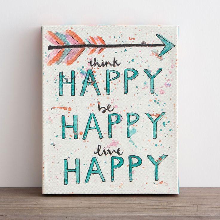 Sadie Robertson - Happy - Wrapped Canvas Print