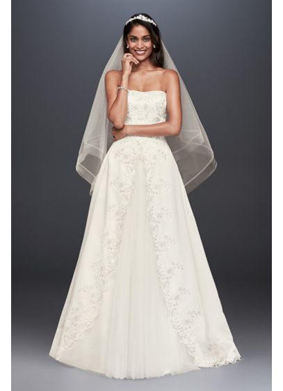 bc3c3fee15e3 Long Ballgown Formal Wedding Dress - David's Bridal Collection | A ...
