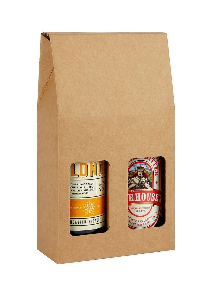 Double Beer Bottle Box - Pack of 6 - Home Brewery Packaging