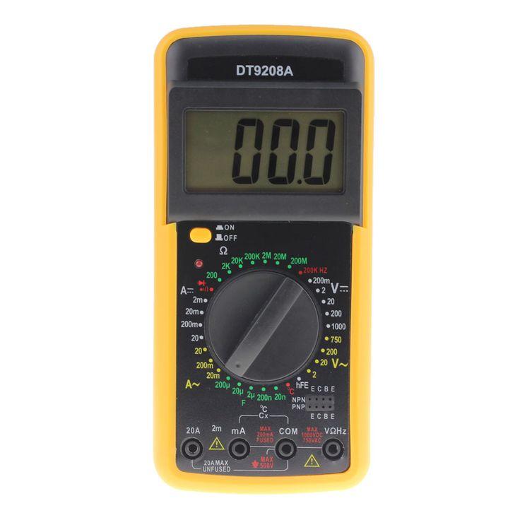 Professional LCD Display Handheld Digital Multimeter Voltmeter Ammeter Ohmmeter Volt Amp Ohm AC/DC Meter Temperature Hz Tester
