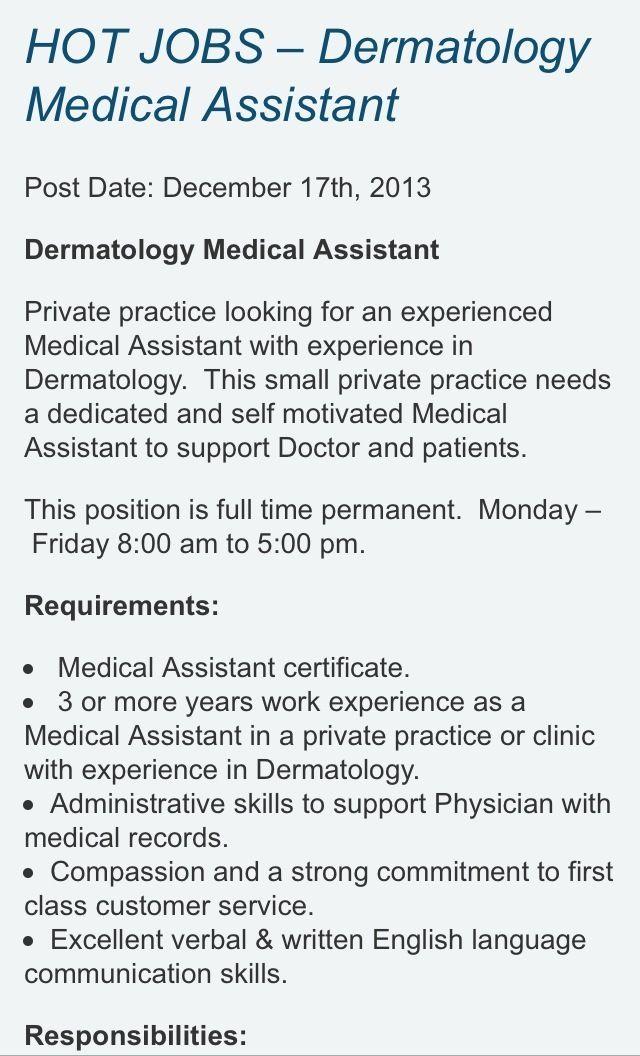 108 best Medical Assistant job opportunities in San Diego images - medical assistant job description