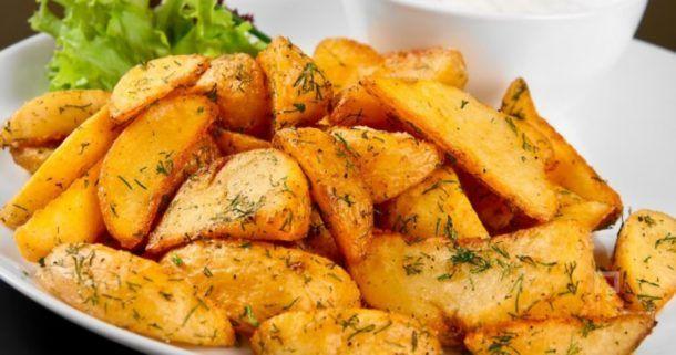 Картофель запечённый с травами