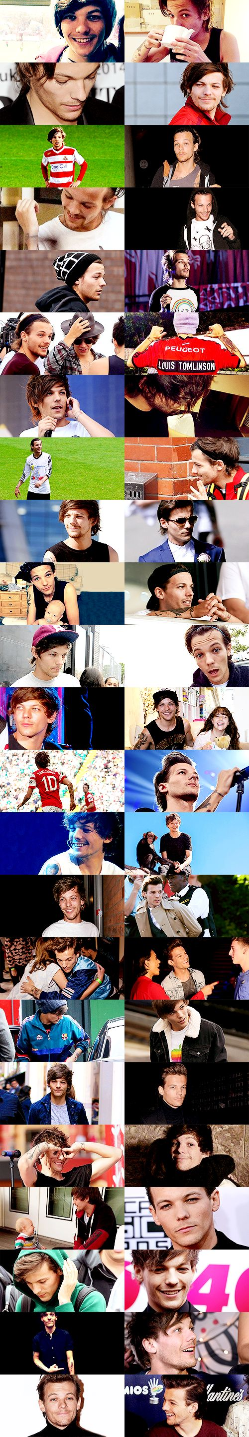 Louis Tomlinson in 2014. I may have a 100 pins for Harry everyday but my heart beats for Louis ❥