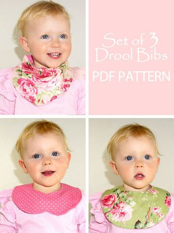 Baby Drool Bibs - sewing pattern