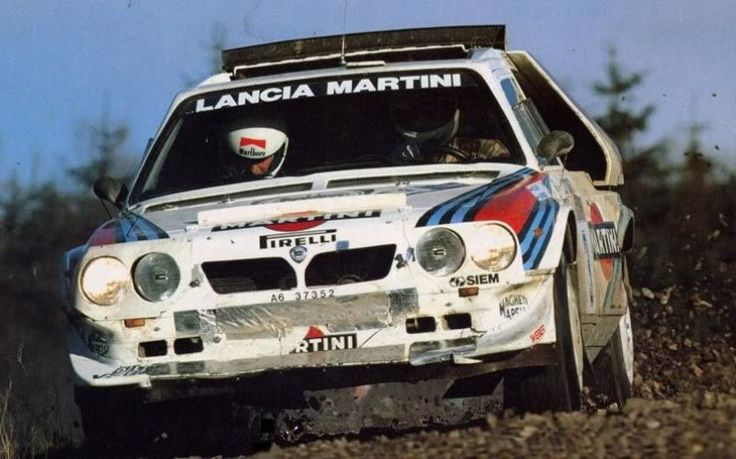 Lancia Delta S4 rally car. My dad owned this in Sicily. Brings back memories.♡