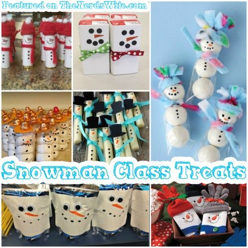 Snowman Class Treats featured on 50 Winter Holiday Class Party Ideas! From store-bought snacks to homemade treats, to non-food goodies, this list has everything you need for Christmas classroom parties.